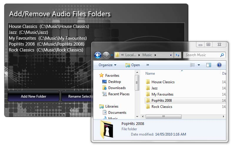 Jazler24 - audio file folders